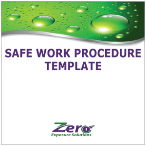Safe work Procedure Template -Zero Exposure Brisbane