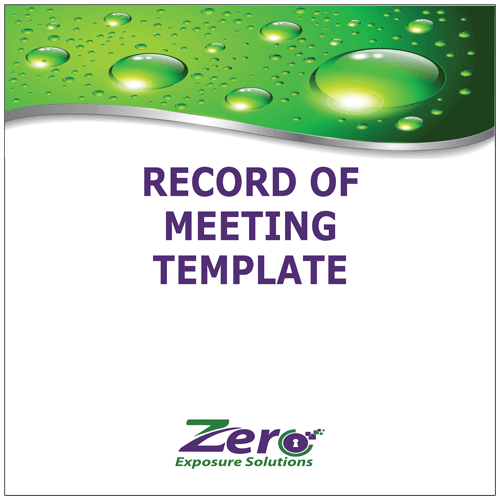 record-of-meeting-template
