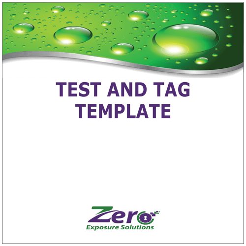 Test And Tag Register Template