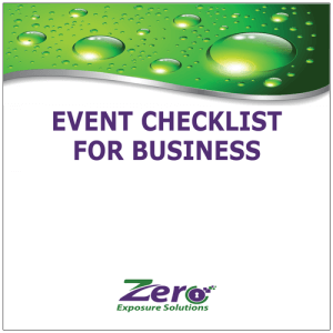 Event Checklist for Business - Zero Exposure