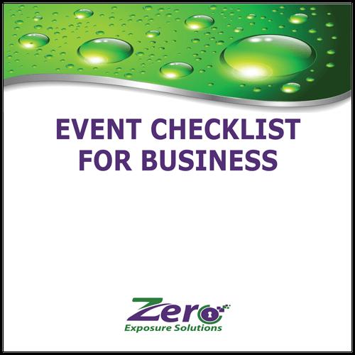 Event Checklist for Business - Zero Exposure